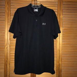 Black Under Armour Short Sleeve Polo Shirt